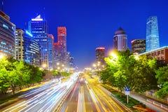 Evening, night modern Beijing Royalty Free Stock Image