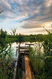 Evening on the northern lake Royalty Free Stock Image
