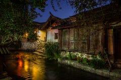 Evening old city. Lijiang city, Yunnan province in China Stock Photo