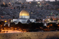 Evening in Old City, Temple Mount Royalty Free Stock Photos