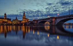 Germany. Saxony. River Elbe. Center of the old city stock photos
