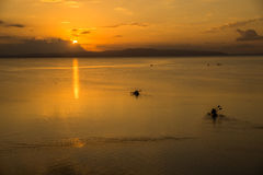 Evening orange sea Royalty Free Stock Photo