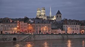 Evening in Orleans, France stock footage