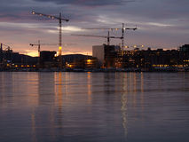 Evening on Oslo waterfront Stock Photo