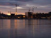 Evening on Oslo waterfront Stock Photo