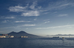 Evening over bay of  Naples Stock Image