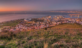 Evening over cape town Stock Images