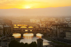 Evening over the Florence royalty free stock image