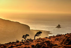Evening over Gramvousa island (Crete) Stock Photography