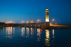 Evening over the lighthouse Royalty Free Stock Photo
