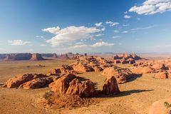 Evening over Monument Valley. Royalty Free Stock Photos