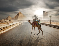 Evening over pyramids Royalty Free Stock Image