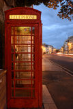 Evening in Oxford - phone booth Royalty Free Stock Photos