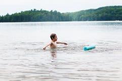 Evening pływanie Zdjęcia Stock