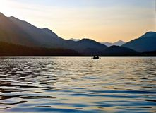Evening Paddle at Trout Lake Stock Photos