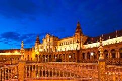 The evening palace Stock Photos