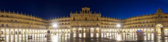 Evening panarama of Plaza Mayor. Salamanca Stock Image