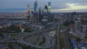 Panorama Of Moscow City stock footage