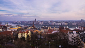 Evening panorama of Budapest, Hungary Royalty Free Stock Image