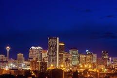 Evening panorama of Calgary Royalty Free Stock Photo