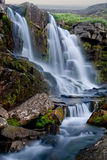 Evening panorama of a falls in mountains Stock Photo