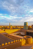 Evening panorama of Khiva Royalty Free Stock Photos