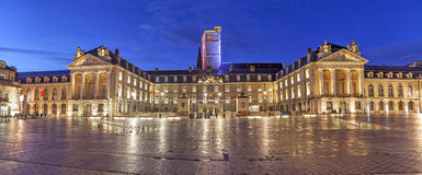 Evening panorama of Liberation Square, Dijon Stock Image