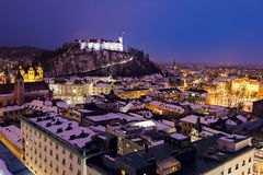 Evening panorama of Ljubljana Stock Photo
