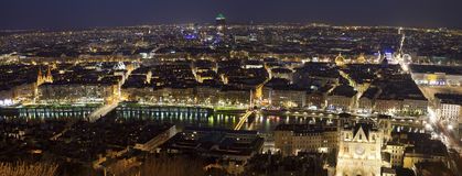 Evening panorama of Lyon Stock Photo
