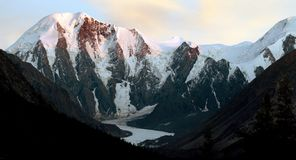 Evening panorama -masei valley Altai Royalty Free Stock Photography