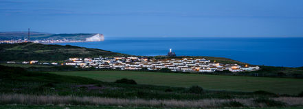 Evening panorama - Newhaven, Sussex Stock Photo