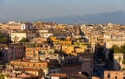 Evening panorama of Rome, Italy Royalty Free Stock Photos
