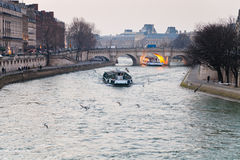 Seine river and Pont Neuf in Paris Royalty Free Stock Photography
