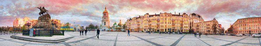 Evening panorama of Sofia royalty free stock photography