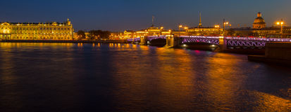Evening panorama of St. Petersburg, the Hermitage, Russia Stock Photo