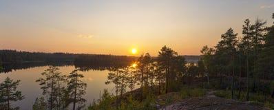 Evening panorama Stock Photography