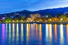 Evening panorama of Yalta, Crimea, Ukraine Royalty Free Stock Image