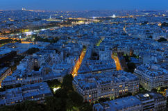 evening paris Όψη Στοκ Φωτογραφία