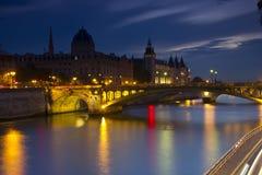 Evening Paris, France stock images