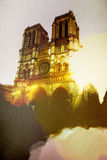 Evening Paris illustration Stock Photos