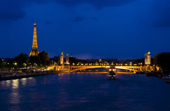 Evening in Paris - France royalty free stock image