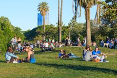 Evening in the park of Ciutadella, Barcelona Royalty Free Stock Photography