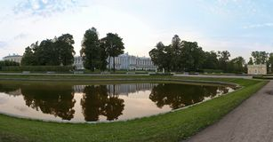 Evening park panorama Royalty Free Stock Images