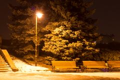 Evening parka z lampionem Zdjęcie Royalty Free