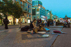 Evening performances of street Royalty Free Stock Image