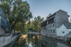 Evening in Petite-France, Strasbourg Stock Image