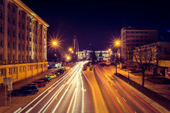 Evening photo of cityscape with long exposure Royalty Free Stock Photos