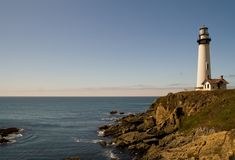 Evening at Pigeon Point. Evening at the Pacific ocean near Pigeon Point lighthouse in California, USA Stock Images