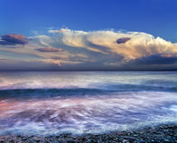 Evening plażę Obraz Stock