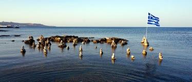 Evening plażę na Faliraki kamieniu Obraz Royalty Free